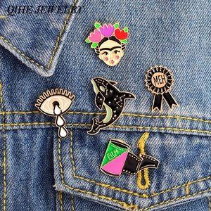 Jewelry - 5pcs. Frida Kahlo Hard Enamel Women's Pin Set